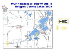 Eau Claire Lake Area Known AIS
